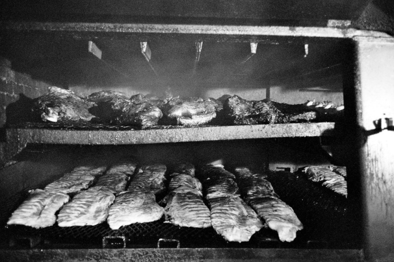 BBQ in a smoker