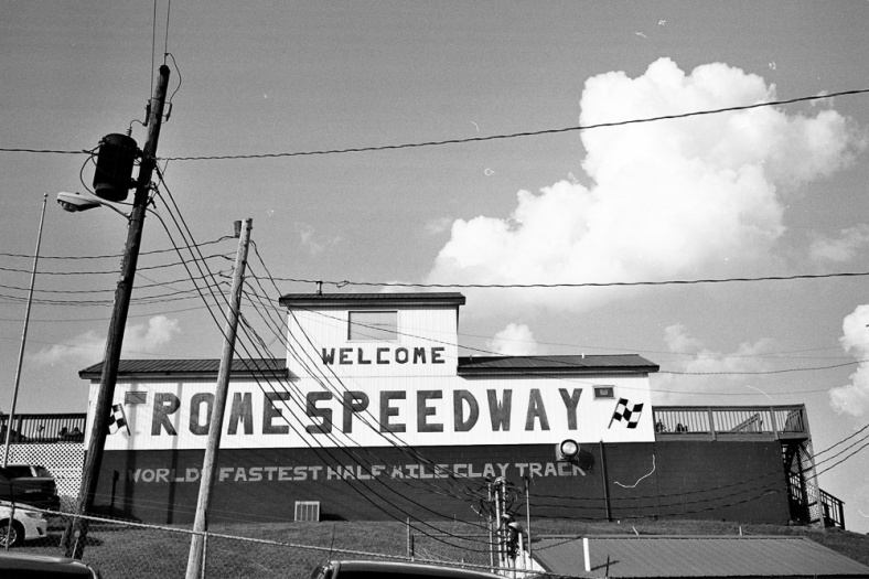 Rome Speedway Sign